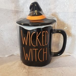 Rae Dunn Wicked Witch mug with topper